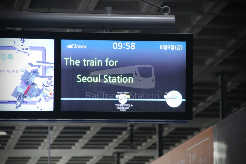 AREX Express Train Incheon International Airport Terminal 1 Seoul Station 029