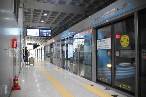 AREX Express Train Incheon International Airport Terminal 1 Seoul Station 030