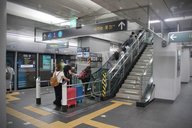 AREX Express Train Incheon International Airport Terminal 1 Seoul Station 084