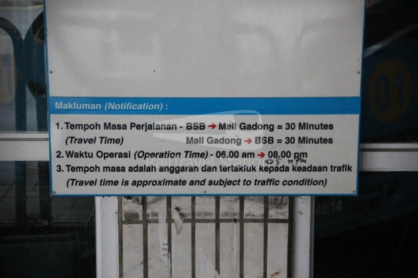 Brunei-Muara Service 01C BSB Bus Terminal Clockwise 075
