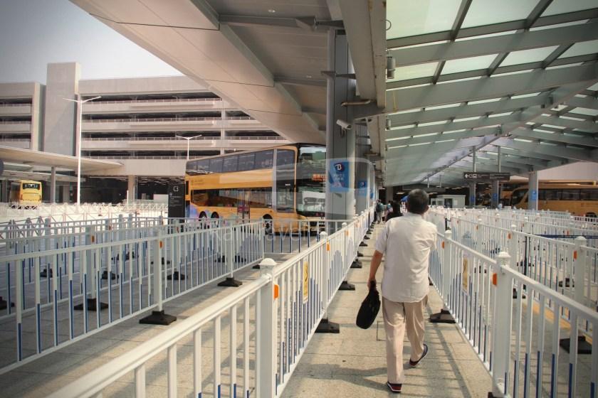 HZM Bus HZMB Macau Port HZMB Hong Kong Port 015