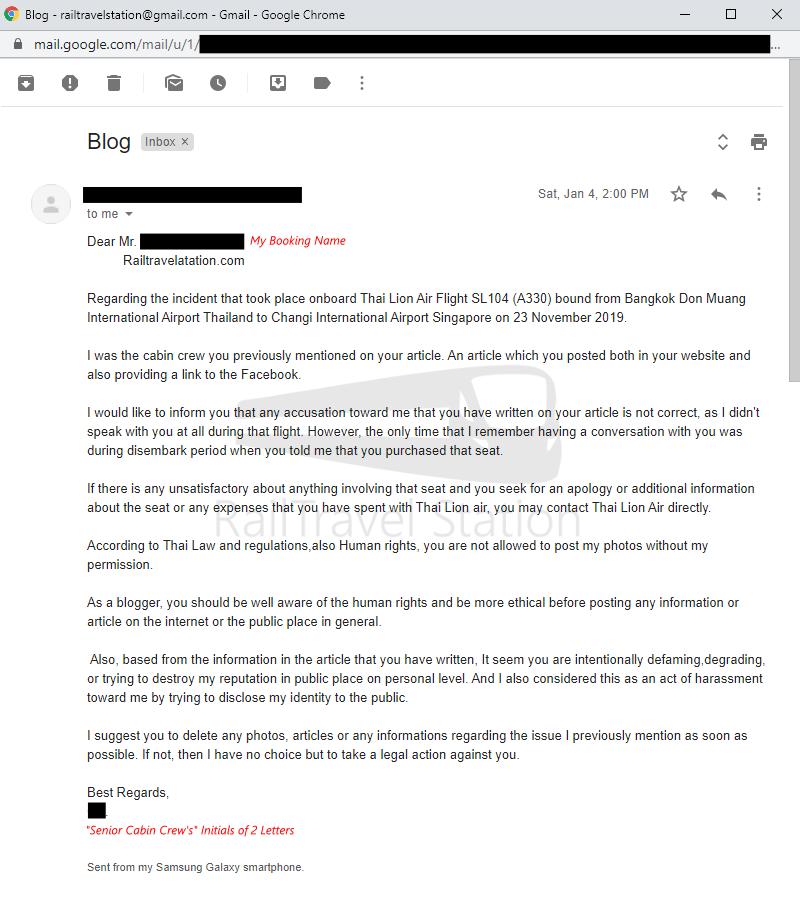 Thai Lion Air Complaint Screenshot 001