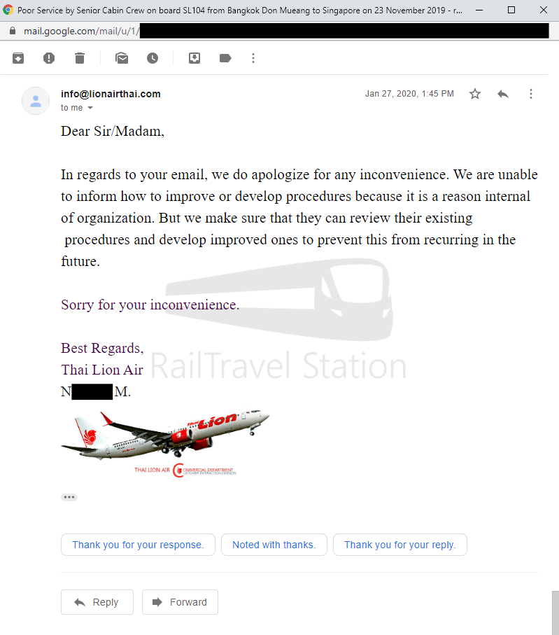 Thai Lion Air Complaint Screenshot 007