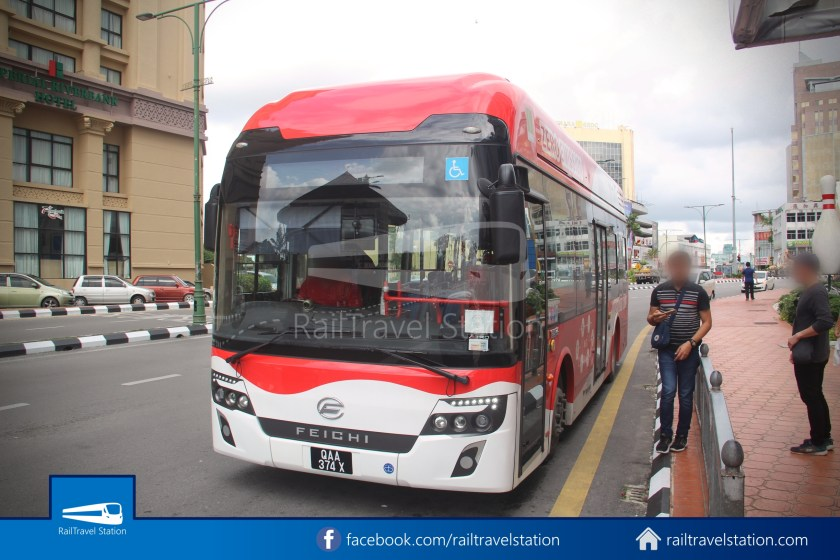 H2 Sarawak Hydrogen Bus Downtown Heritage Loop 093