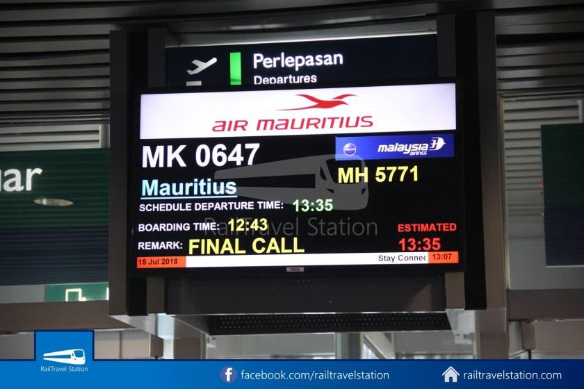 Air Mauritius MK647 KUL SIN 027