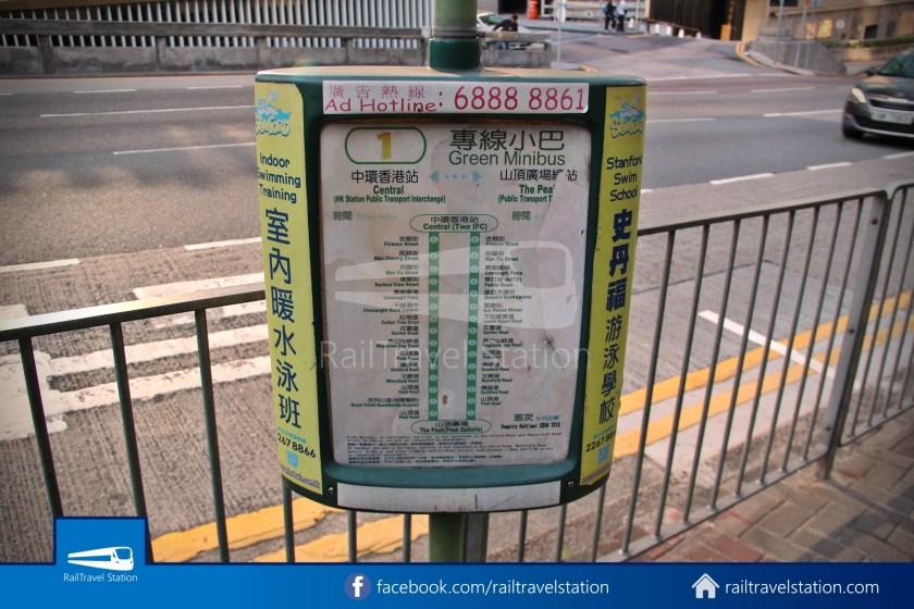 Green Minibus Route 1 HK Squash Centre The Peak 02