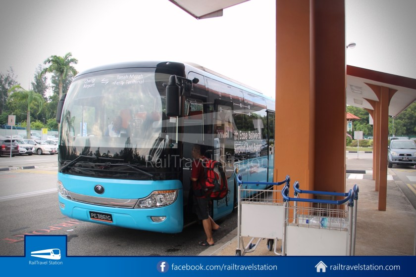 Tanah Merah Ferry Terminal Changi Airport Shuttle Bus 22