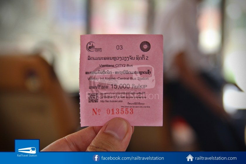 Vientiane City 2 Bus Service Airport Shuttle CBS Airport 012