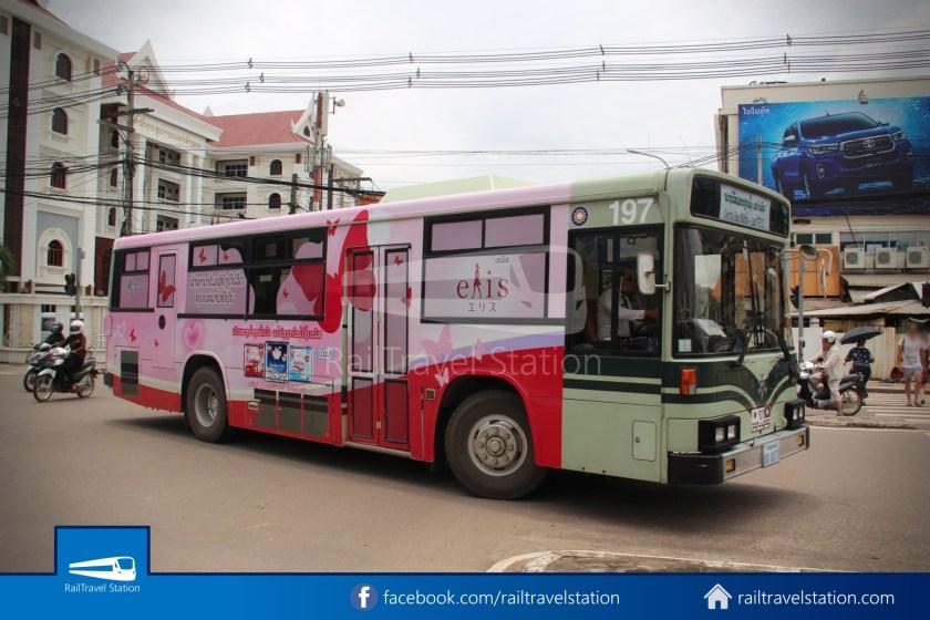 Vientiane City 2 Bus Service Lao ITECC-CBS Line 02 - CBS Bus Stop