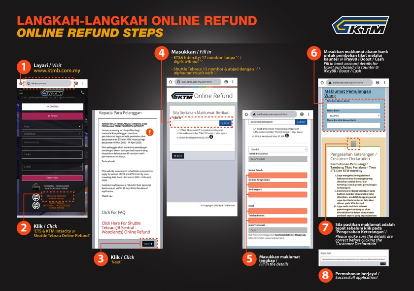 KTM Intercity ETS Refund Info