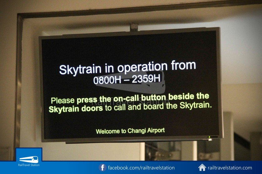 Changi Airport Skytrain Resume On Call Button 002