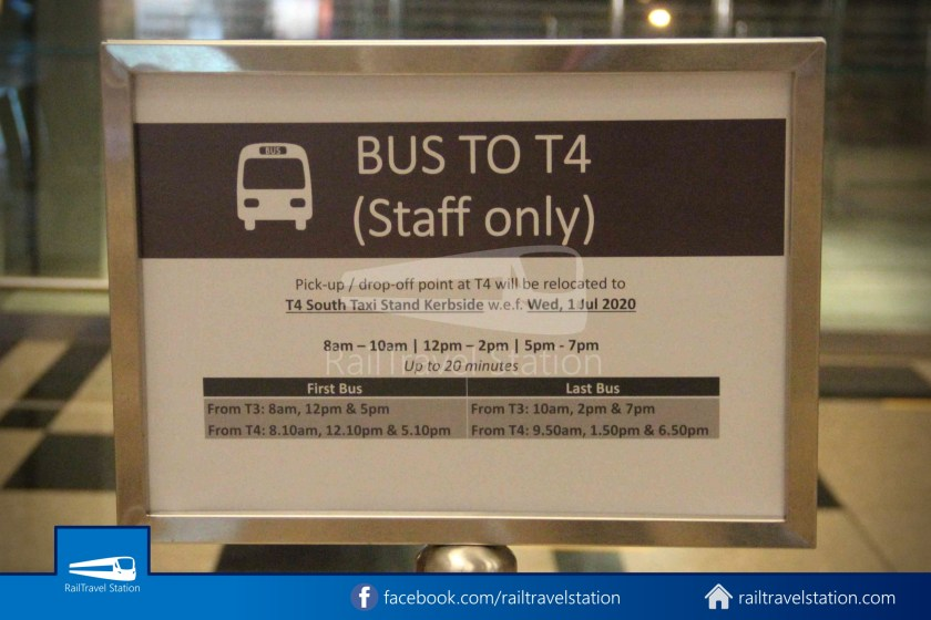 Changi Airport T4 Bus Lounge T3 Public Staff Only 001