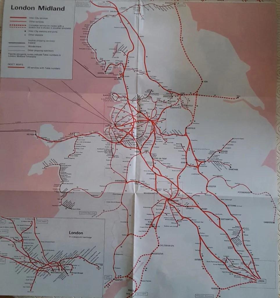 London Midland Region rail map