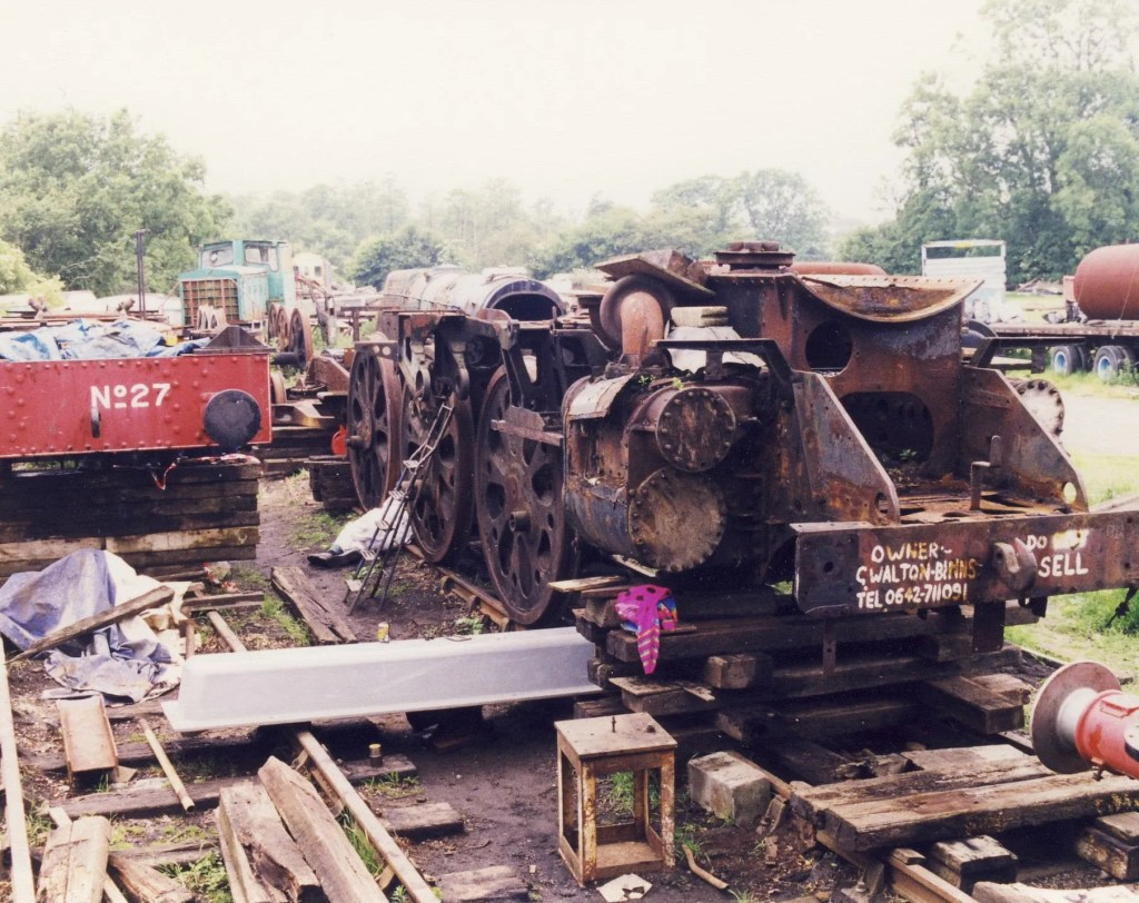 Sidmouth after removal of the boiler and the front bogie and rear trailing truck