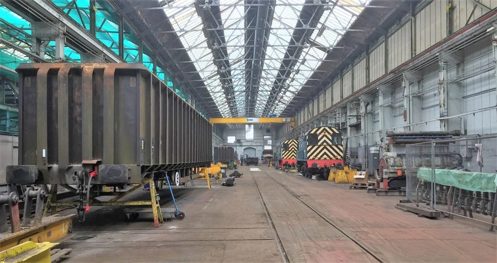 A brace of Class 08's in the workshop