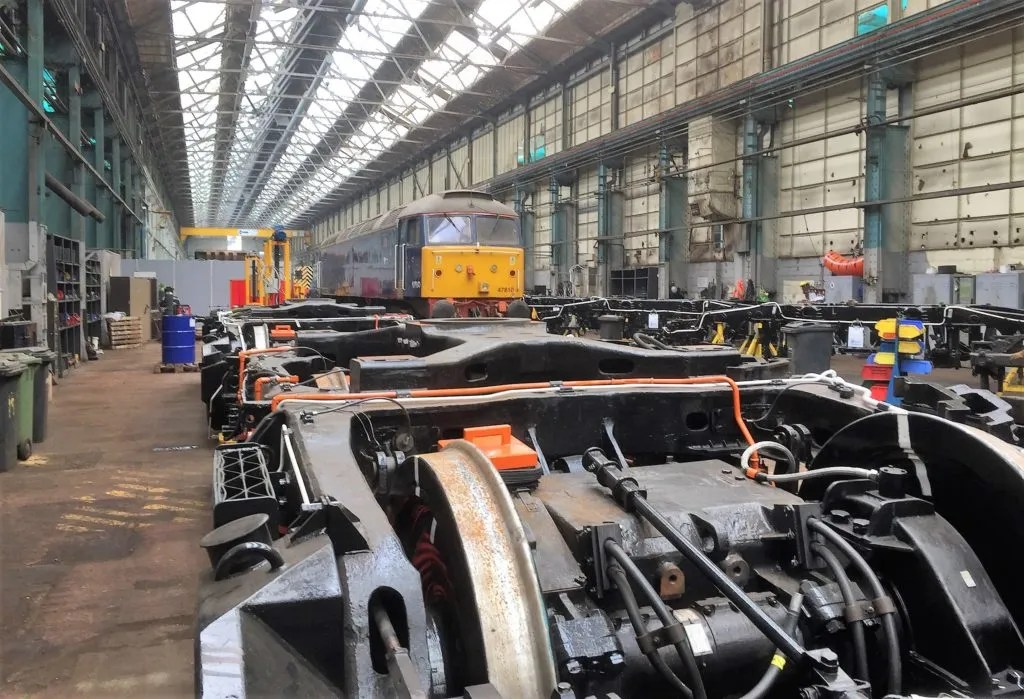 Arlington Fleet Services Class 47 number 47810 in for Works attention