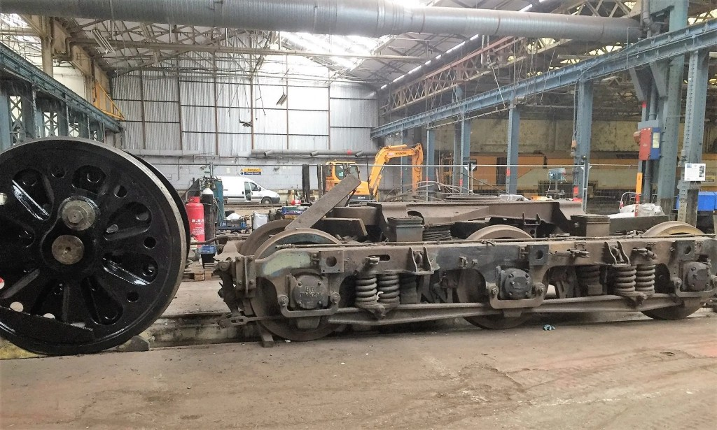 Bullied Pacific wheels and Class 47 bogie