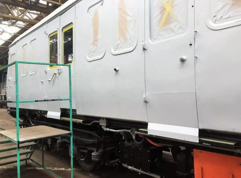 Secondary door locks fitted to Class 117 DMU