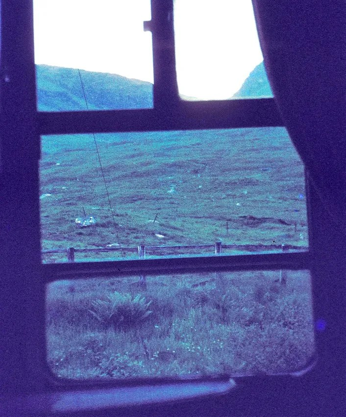 Sleeper train - window view - mark 1 carriage - london to scotland