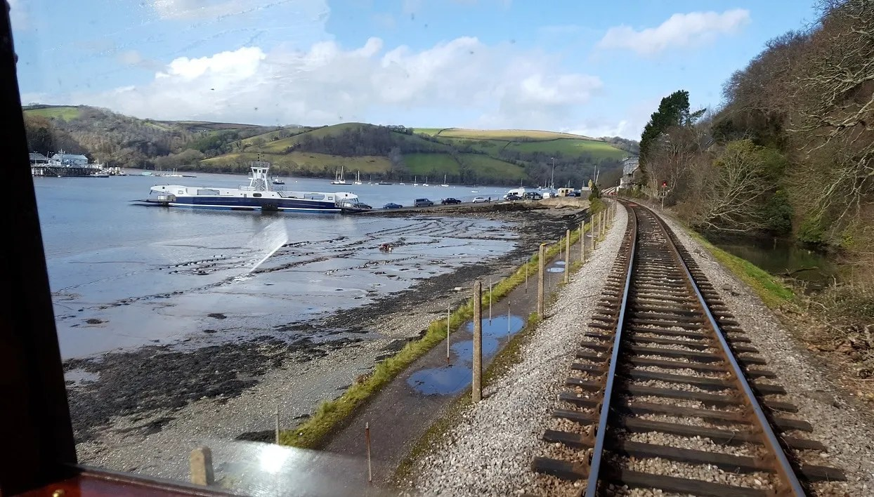 View of the River Dart from the Dartmouth Steam Railway