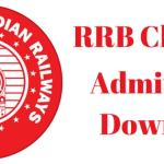 RRB Chennai Admit Card 2018