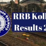RRB Kolkata Results 2017