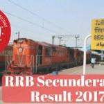 RRB Secunderabad Result 2017