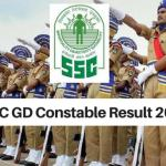SSC GD Constable Result 2018