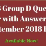 RRB Group D 20th September 2018 Question Paper & Answer Key