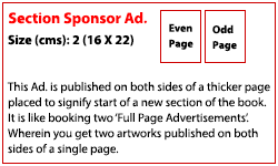 Section Sponsorship (Rs. 200,000)