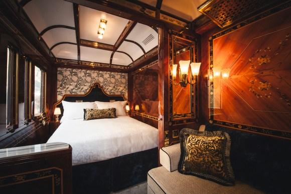 Belmond Venice Simplon Orient-Express train bedroom compartment