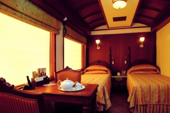 Maharajas Express train India twin room
