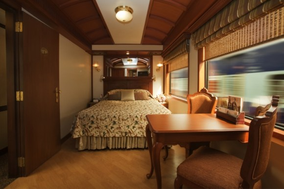 Maharajas Express train India bedroom
