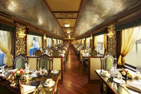 Maharajas Express train India Rang Mahal restaurant dining