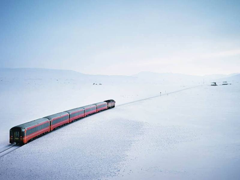 Nordland line in winter