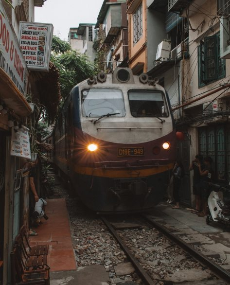 vietnam train in city