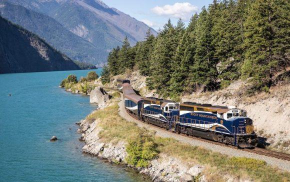 ffestiniog travel: rocky mountaineer train exterior