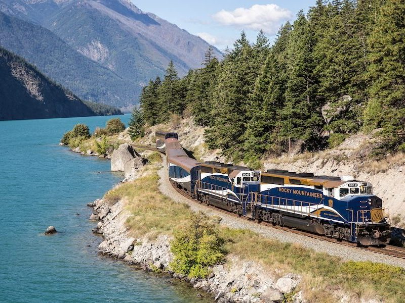 ffestiniog travel: rocky mountaineer train exterior