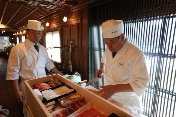 Seven Stars in Kyushu train Japan chefs food