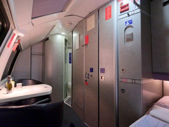 NightJet train sleeper compartment