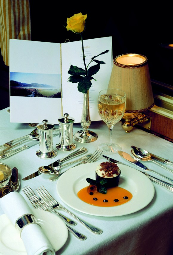 The Blue Train South Africa food dining