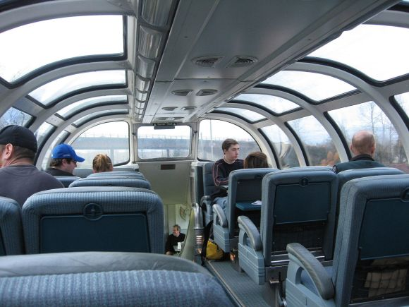The canadian train observatory glass dome car