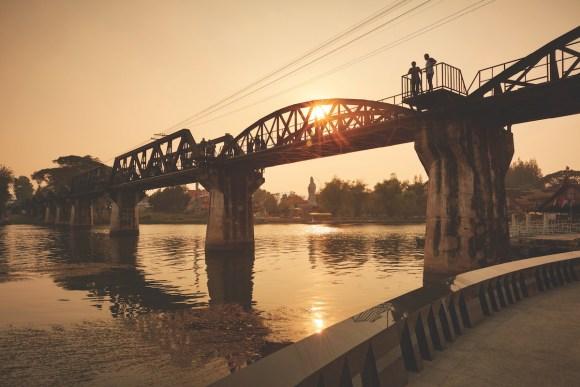 asian rail journeys Bridge on the river Kwai death railway