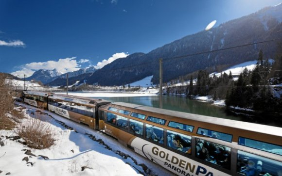 golden pass train switzerland snow