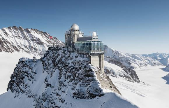 Jungfraubahn Railway top of mountain