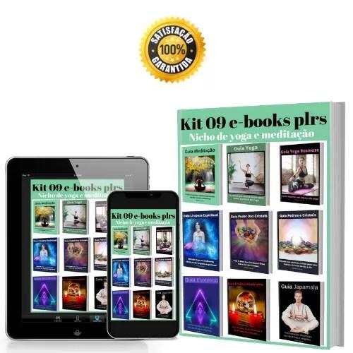 Kit 09 e-books plrs nicho de yoga e meditação