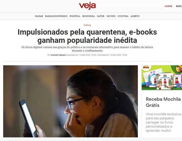 Venda de ebooks cresce durante a pandemia Veja