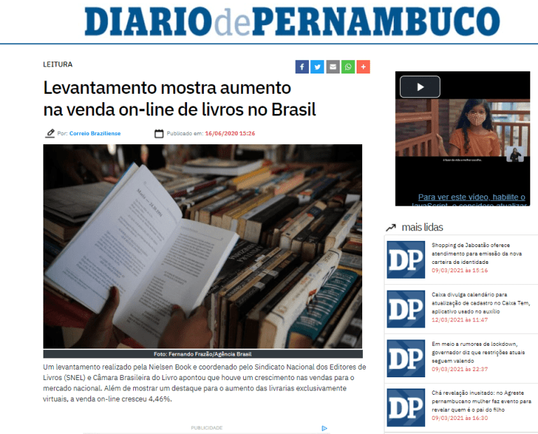 Venda de ebooks cresce durante a pandemia diario pernmbucano