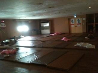 Shared sleeping quarters at a jijimbang.