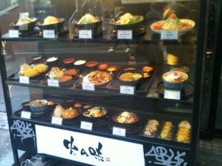 Fake food display.